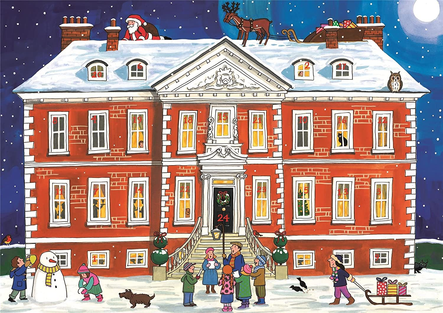 Alison Gardiner Famous Illustrator Unique Traditional Advent Calendar - Designed in England - Country House Festive Season Alison Gardiner Design Ltd AC3