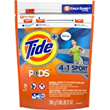 Tide PODS Plus Febreze Sport Odor Defense Laundry Pacs, Active Fresh Scent, 26 count, Designed For Regular and HE Washers