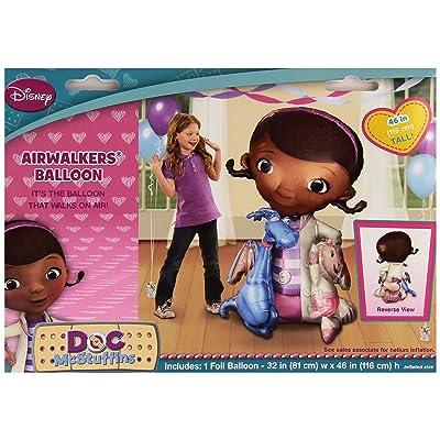 Doc Mcstuffins Air Walker Balloon Girls Birthday Party Decoration - 52'' Foil: Home & Kitchen