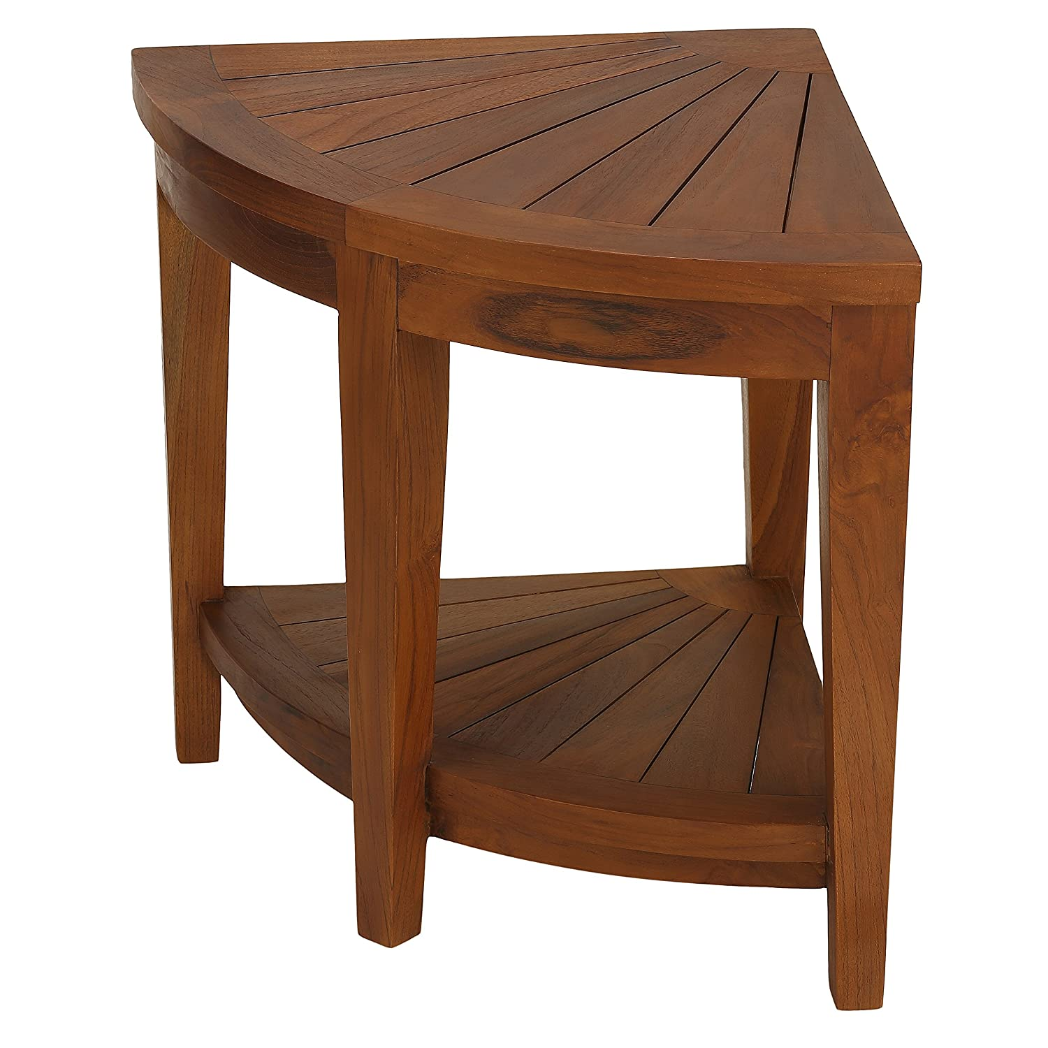 Amazon.com Bare Decor Hanna Corner Spa Stool in Solid Teak Wood Corner Teak Oil Home u0026 Kitchen  sc 1 st  Amazon.com : teak stools - islam-shia.org