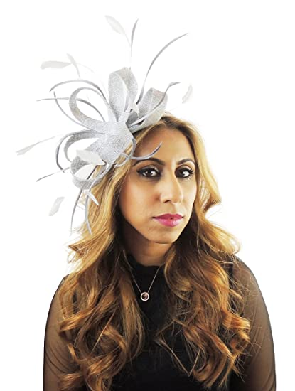 Hats By Cressida Metallic Silver Wedding Fascinator  Amazon.co.uk  Clothing c4f65847433