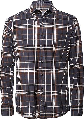 Hackett Country Estate PLD Camisa, Multicolor (Brown/Multi 8dn), Small para Hombre: Amazon.es: Ropa y accesorios