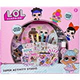 L.O.L Surprise! Super Activity Set Studio by Horizon Group USA, Sketch & Create with Stickers & Gemstones, Multicolor