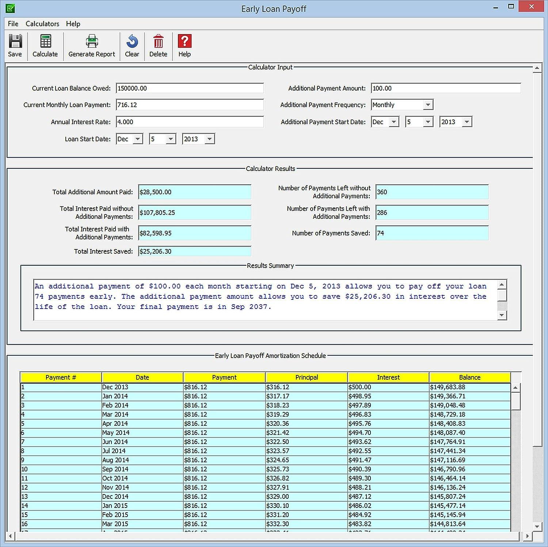 mortgage calculator prepayment amortization