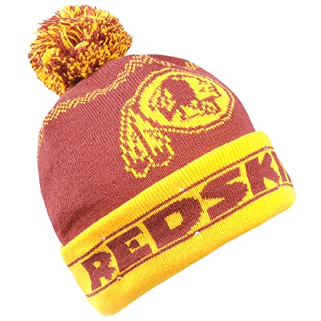 Image Unavailable. Image not available for. Color  Forever Collectibles NFL  Washington Redskins LED Pom Pom Knit Hat ... cc6863f87