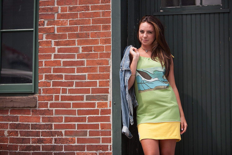 Tee-Tank Dress BK Seagull by Refried Apparel