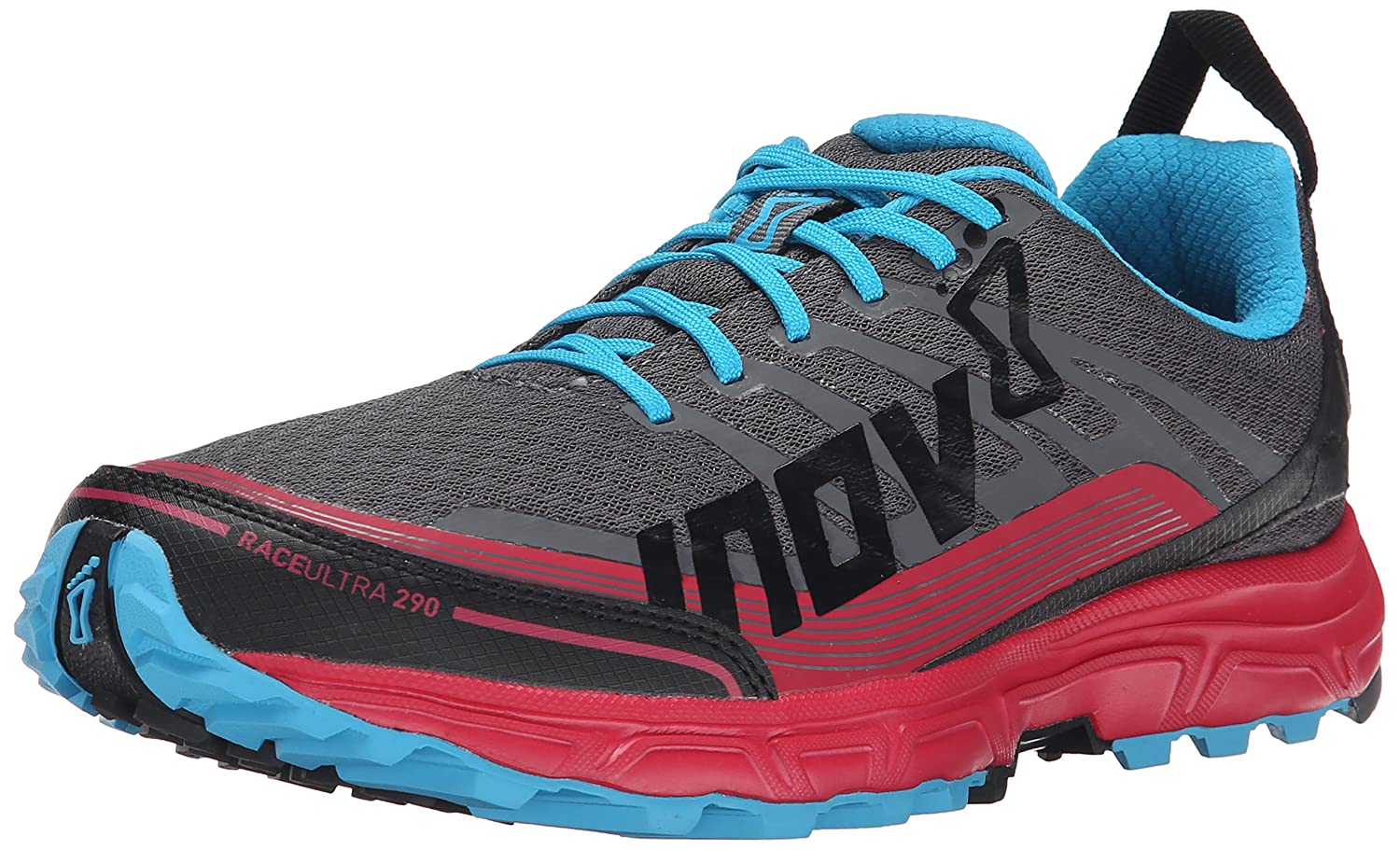 Inov-8 Women's Race Ultra 290 Trail Running Shoe B00QUTXDF4 7.5 B(M) US|Grey/Berry/Blue