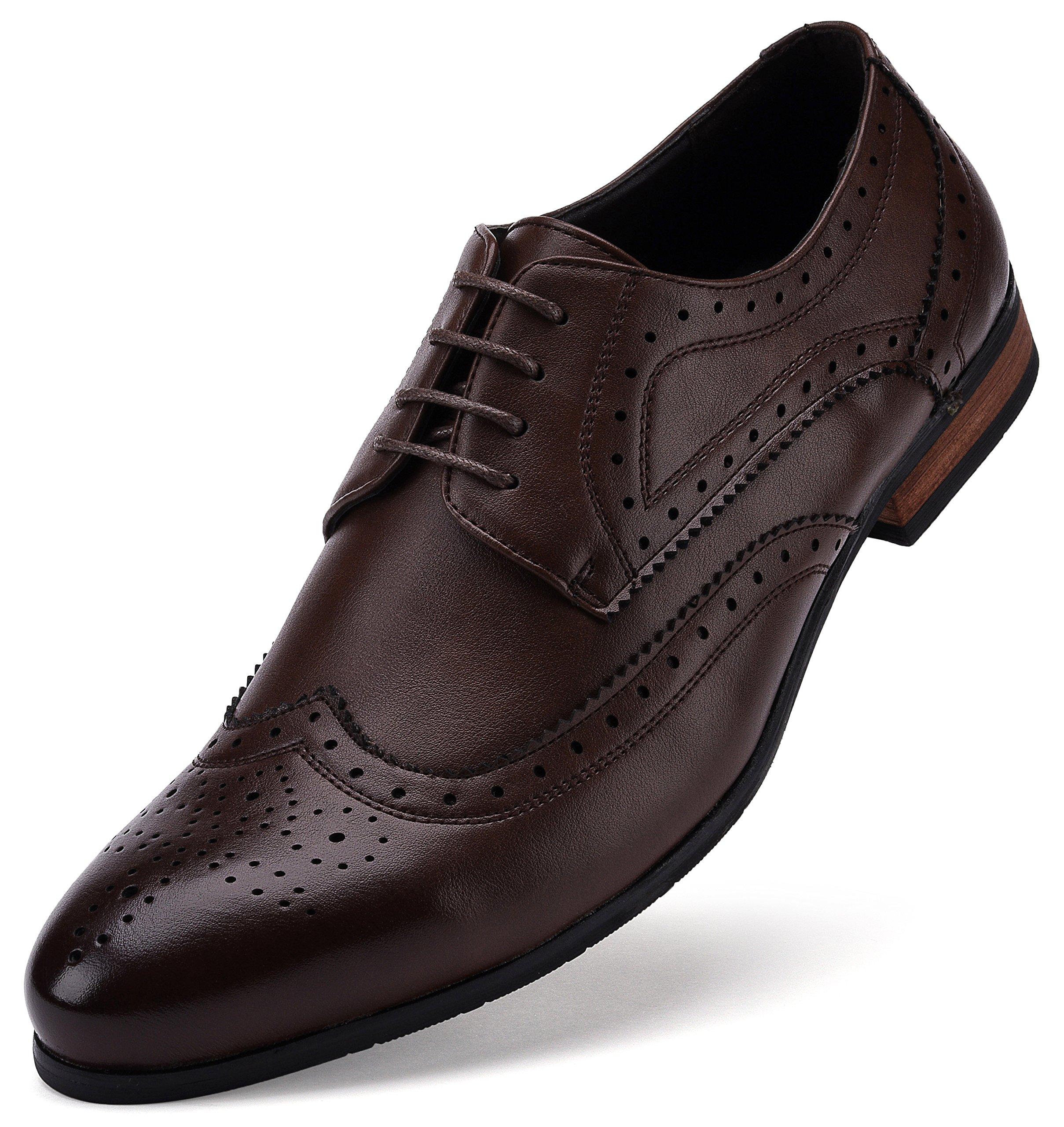 Fine Detail Wingtip Oxford Shoe Chocolate Brown US-8.5D(M)   UK-41-42   EU-8