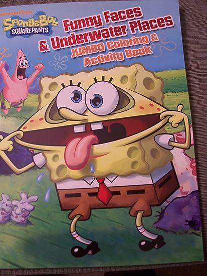 amazon com spongebob squarepants funny faces underwater places
