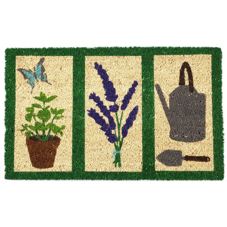Entryways Garden Tools Non- Slip Coconut Fiber Doormat 17'' X 28'' X .5''