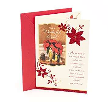 Dayspring Christmas Cards.Dayspring Religious Christmas Card For Aunt Poinsettia