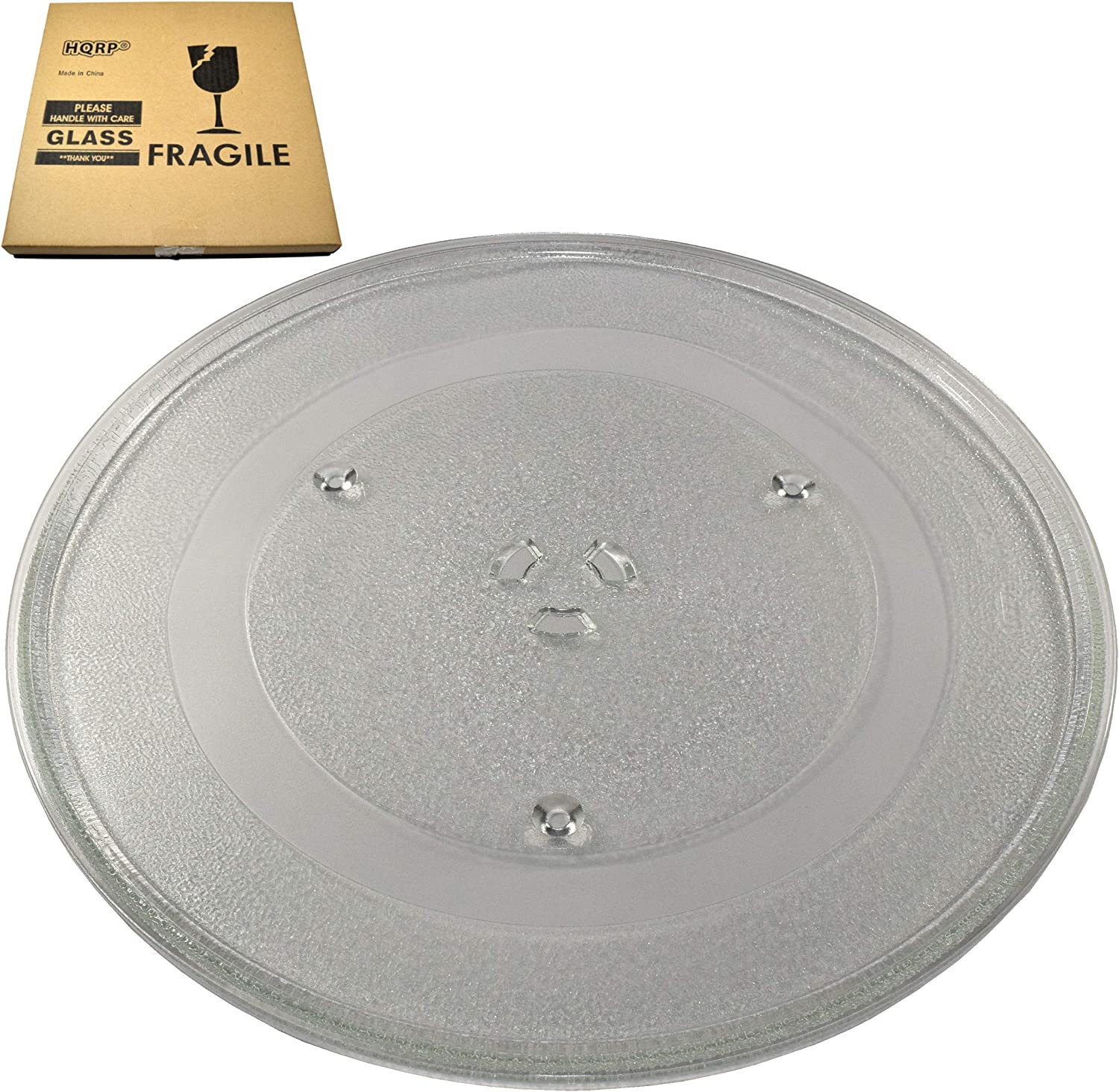 HQRP 14-1/8 inch Glass Turntable Tray fits GE WB39X10038 DVM1950DR1BB DVM1950DR1WW DVM1950DR2BB DVM1950DR2WW DVM1950ER2ES DVM1950SR1SS DVM1950SR2SS DVM7195DF1BB Microwave Oven Cooking Plate 360mm
