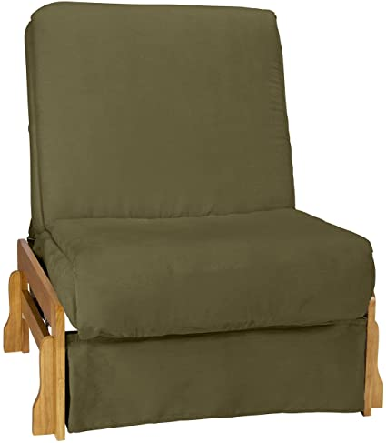 Marvelous Bali Perfect Sit Sleep Pocketed Coil Inner Spring Pillow Top Sofa Child Size Sleeper Bed Chair Size Natural Arm Finish Microfiber Suede Olive Dailytribune Chair Design For Home Dailytribuneorg