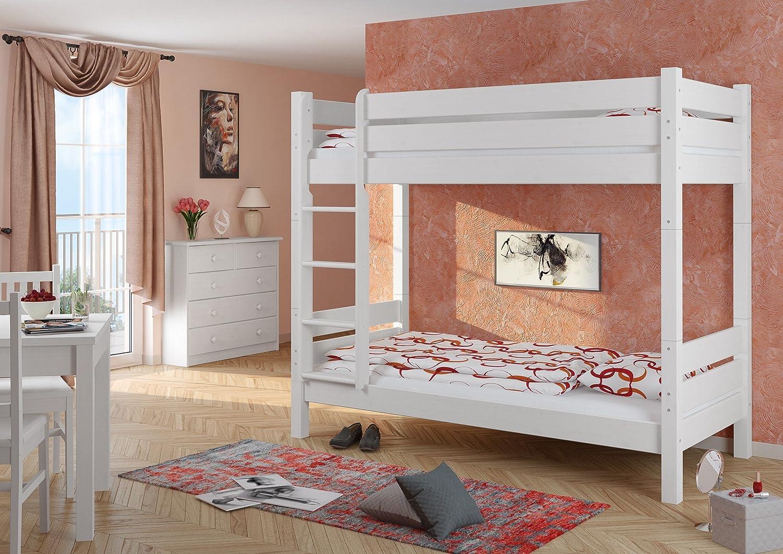 Etagenbett Idealo : Erst holz  w t etagenbett für erwachsene weiß