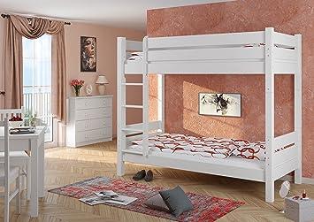 Stabiles Etagenbett Für Erwachsene : Erst holz  w t etagenbett für erwachsene weiß