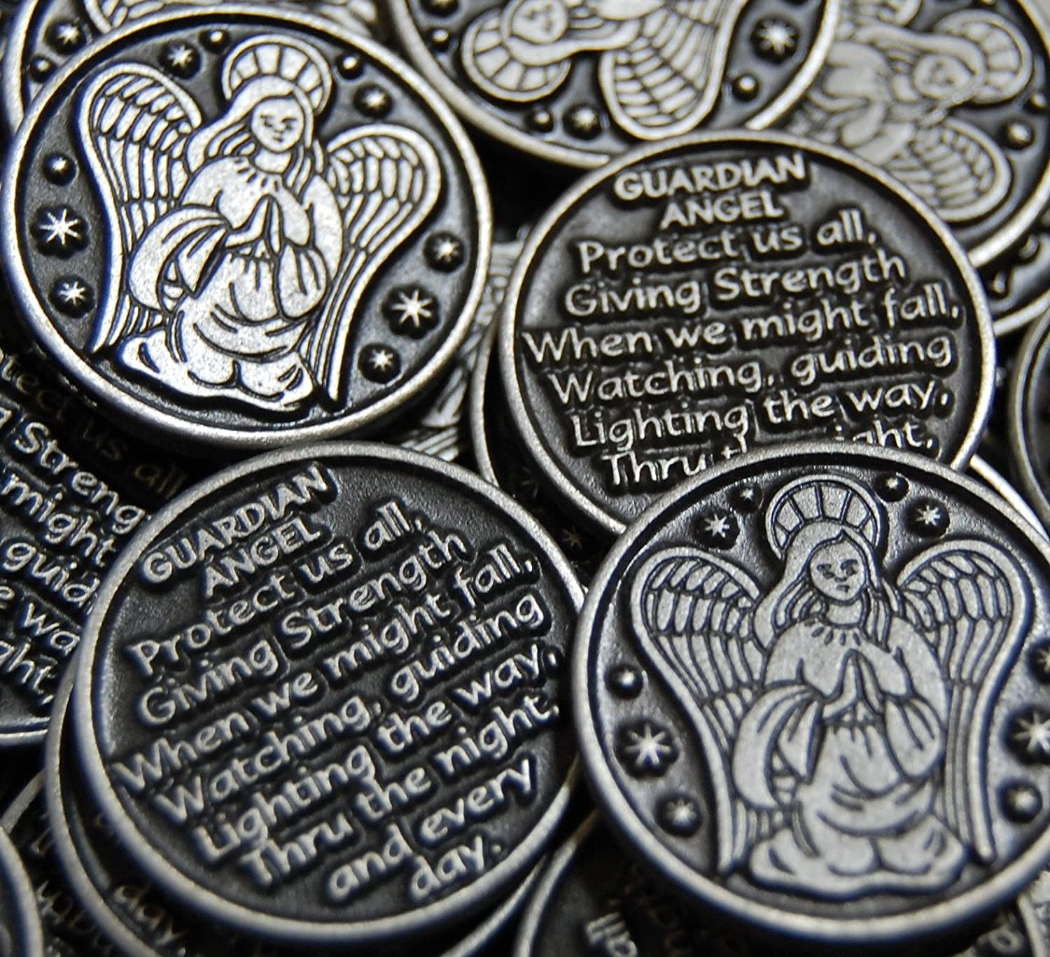 Set of 10 Guardian Angel Pocket Token Coins 5670 (10)