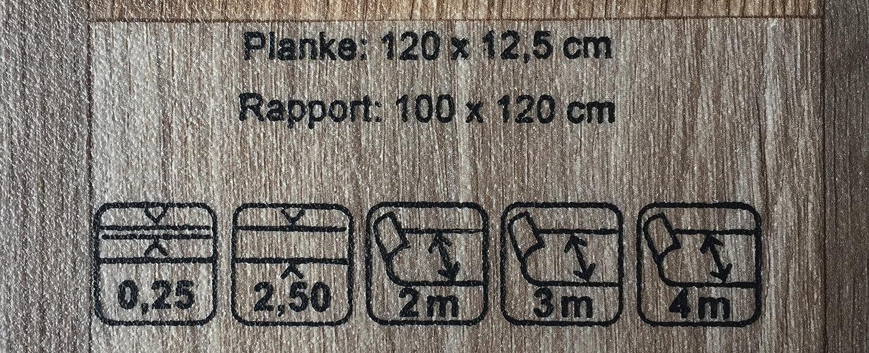 CV-Boden wird in ben/ötigter Gr/ö/ße als Meterware geliefert PVC Vinyl-Bodenbelag in rustikaler Holzoptik Schwarz//Anthrazit PVC-Belag verf/ügbar in der Breite 3 m /& in der L/änge 3,0 m