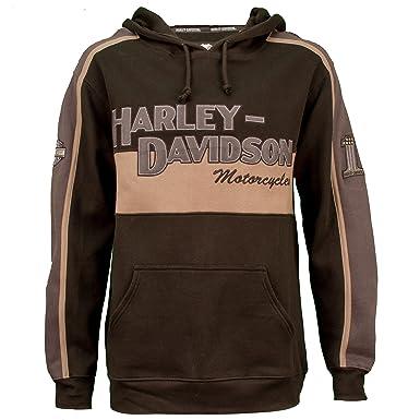 de84c442e Harley-Davidson Men's Prestige Black & Grey Pullover Hoodie 99128-10VM ...