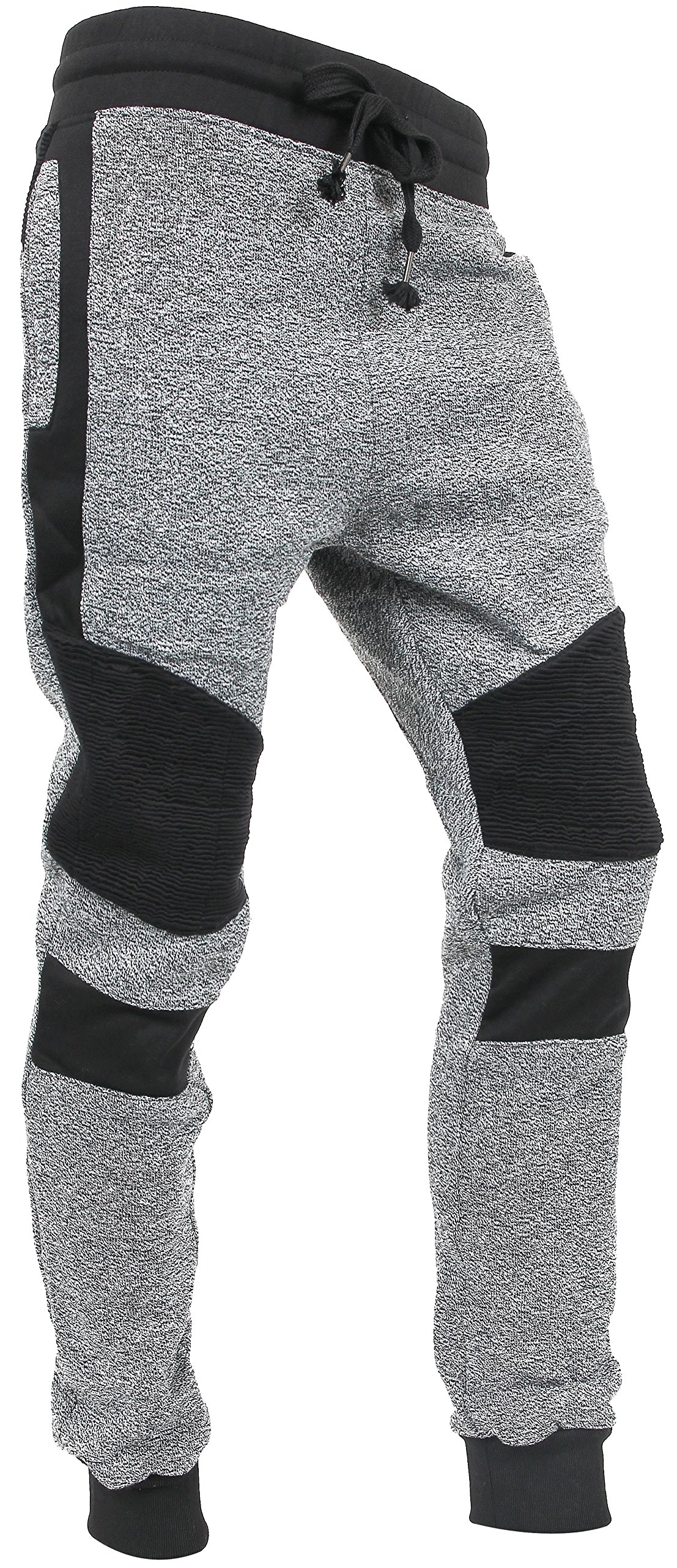 0b64328ec14 Hat and Beyond Casual Fleece Jogger Pants Active Elastic Urban Biker Slim  Fit (2X-