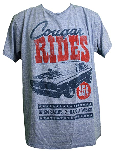 Amazon Com Ford Mustang Men S Cougar Vintage Muscle Car T Shirt 2x