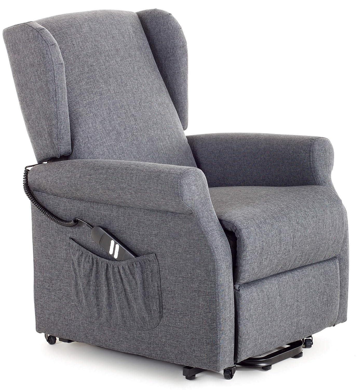 my living sillón de Relax eléctrica con Eléctrico Lift 2 Motores de Tela Vittoria Azul
