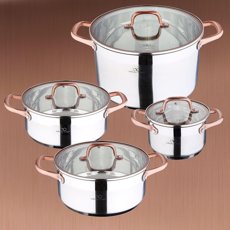 Bergner Pk835 Infinity Chefs-Set de 2 Cacerolas Ø20x8 (2,3 L) y ...