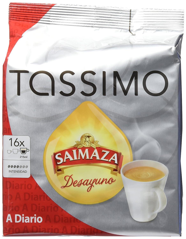 Tassimo Saimaza Desayuno 16 cápsulas - Pack de 3 (Total 48 cápsulas): Amazon.es: Alimentación y bebidas