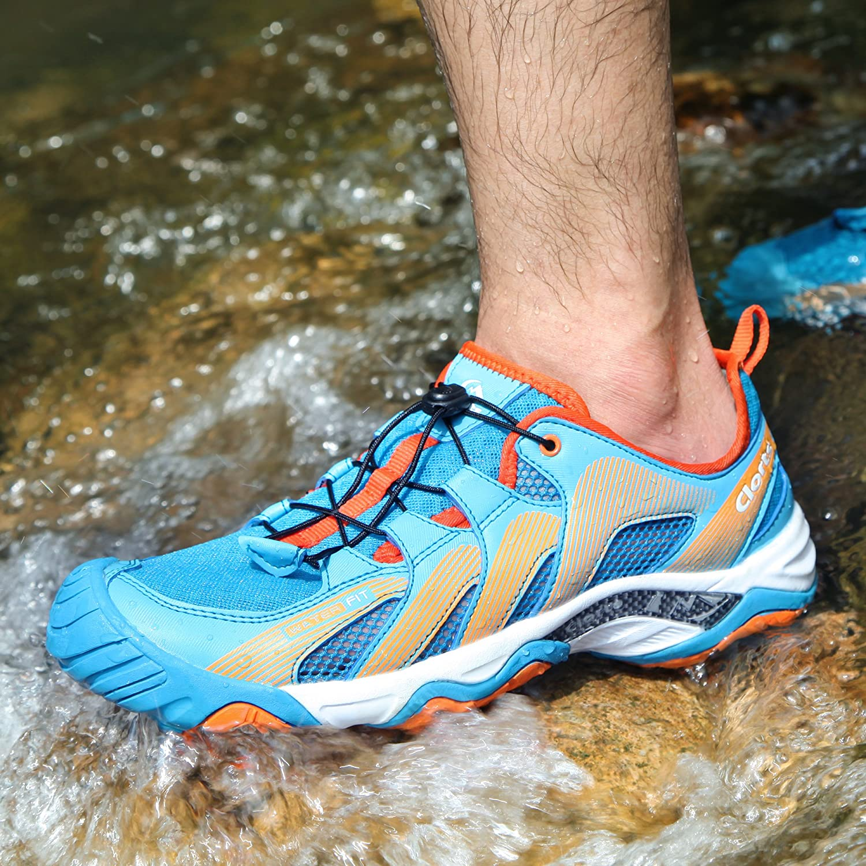 Clorts Mens Water Shoe Lightweight Quick Drying Kayaking Beach Hiking Trekking Walking Sneaker 3H028-M