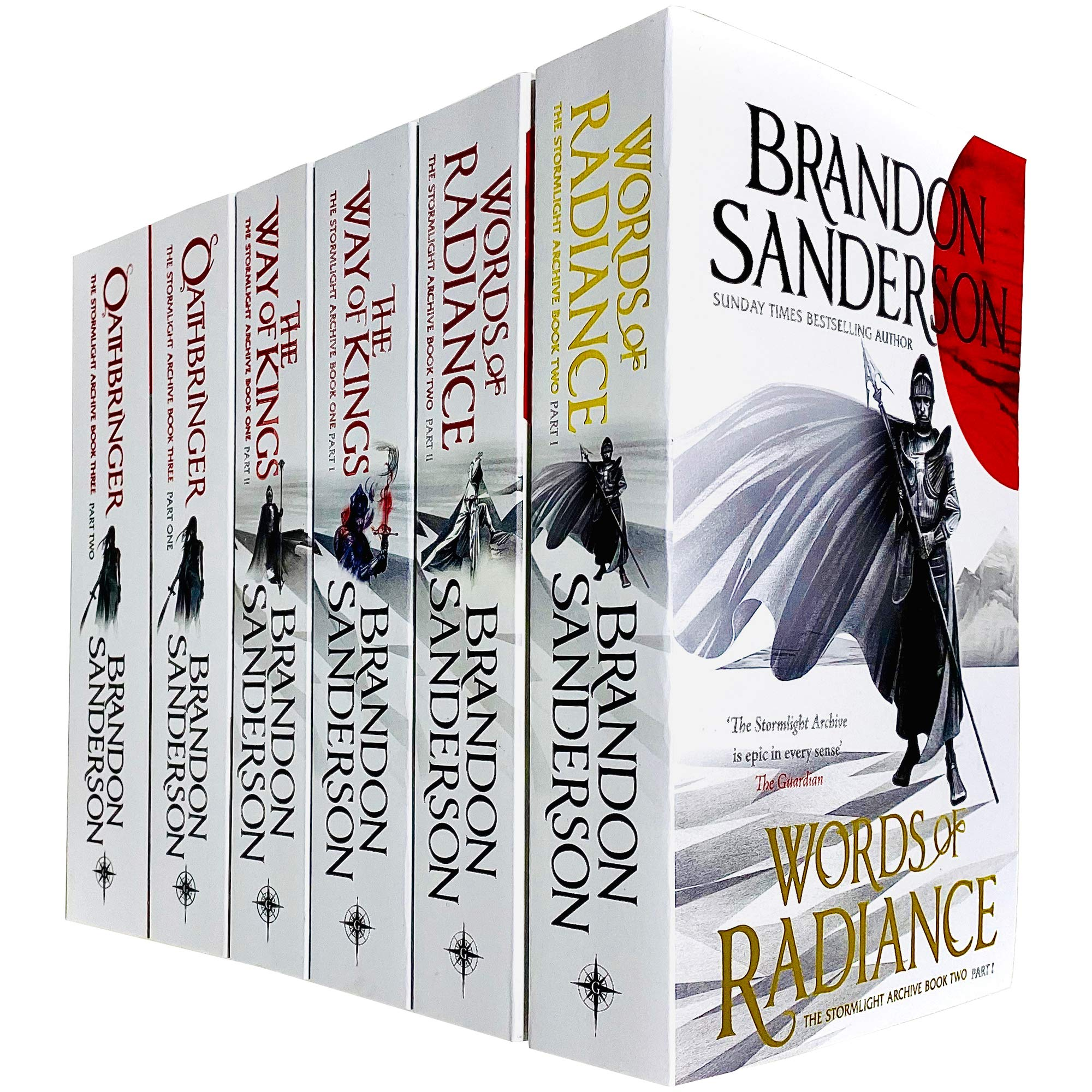 Amazon.com: The Stormlight Archive Series 6 Books Collection Set by Brandon  Sanderson (Words of Radiance Part 1 & 2, The Way of Kings Part 1 & 2 &  Oathbringer Part 1 &