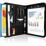 ProCase Portfolio Binder, Leather Padfolio File Folder Zipper Notepad Business Legal Document Holder with Tablet Sleeve…