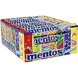 Mentos Rainbow | Orange Erdbeere Apfel Heidelbeere Himbeere Wassermelone Grapefruit | Dragees mit Frucht-Geschmack | Karton mit 40 Rollen Bonbons