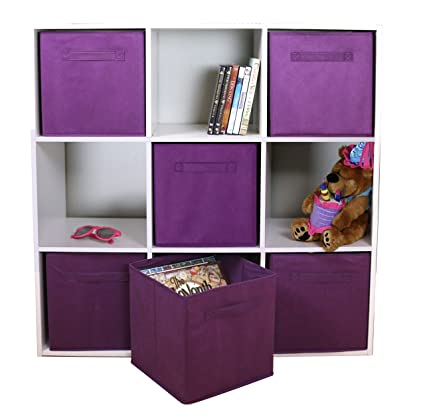 Adorn Home Essentials Dual Handle Foldable Cloth Storage Cube| Basket,  Bins, Containers And