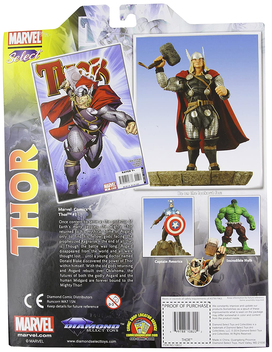 Diamond Select Toys Marvel Select Thor Action Figure Rejects from Studios OCT073173