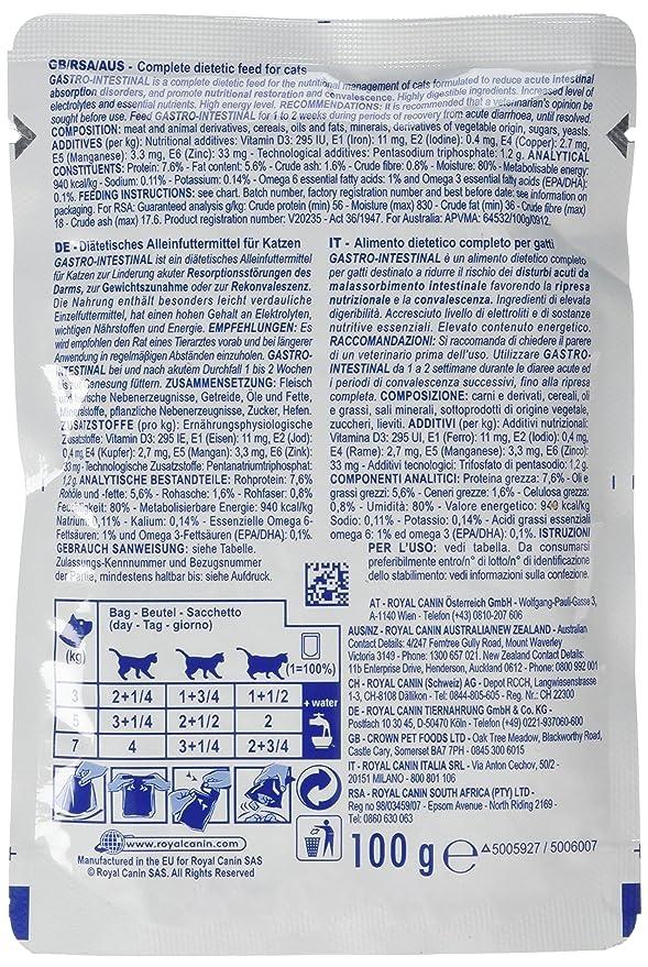 ROYAL CANIN Gastro Intestinal Comida para Gatos - 4800 gr: Amazon.es: Productos para mascotas