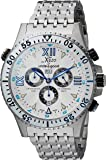 Xezo Men's Air Commando Swiss-Quartz Luxury Sport Chronograph Wrist Watches, 2nd Time Zone. Day, Date. Waterproof 20…
