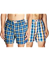 Levi's Men's Woven Boxer Shorts - Assorted Colours (Pack of 2)
