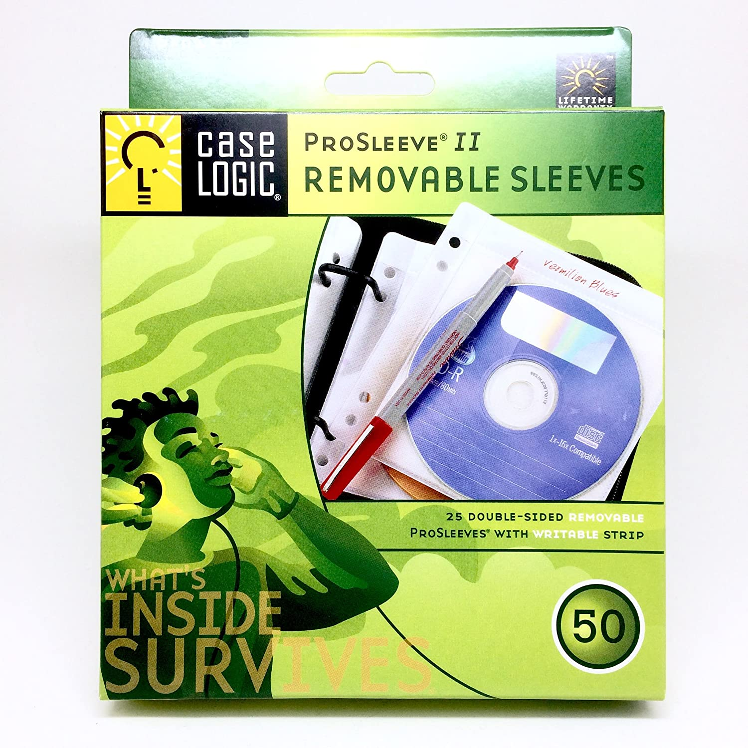 50 Disc Capacity Double Sided ProSleeve II PFRW50 Caselogic