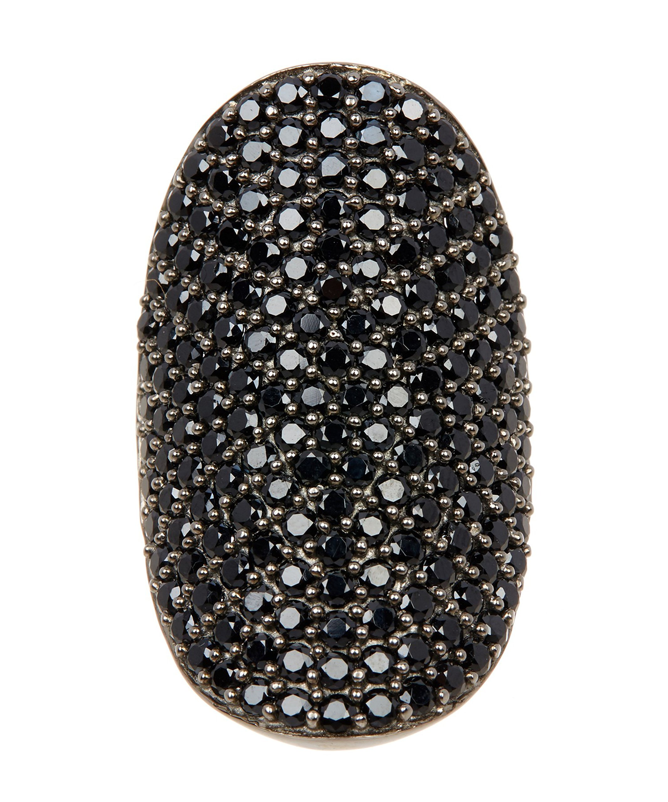 Black Spinel and Sterling Silver Farrah Ring