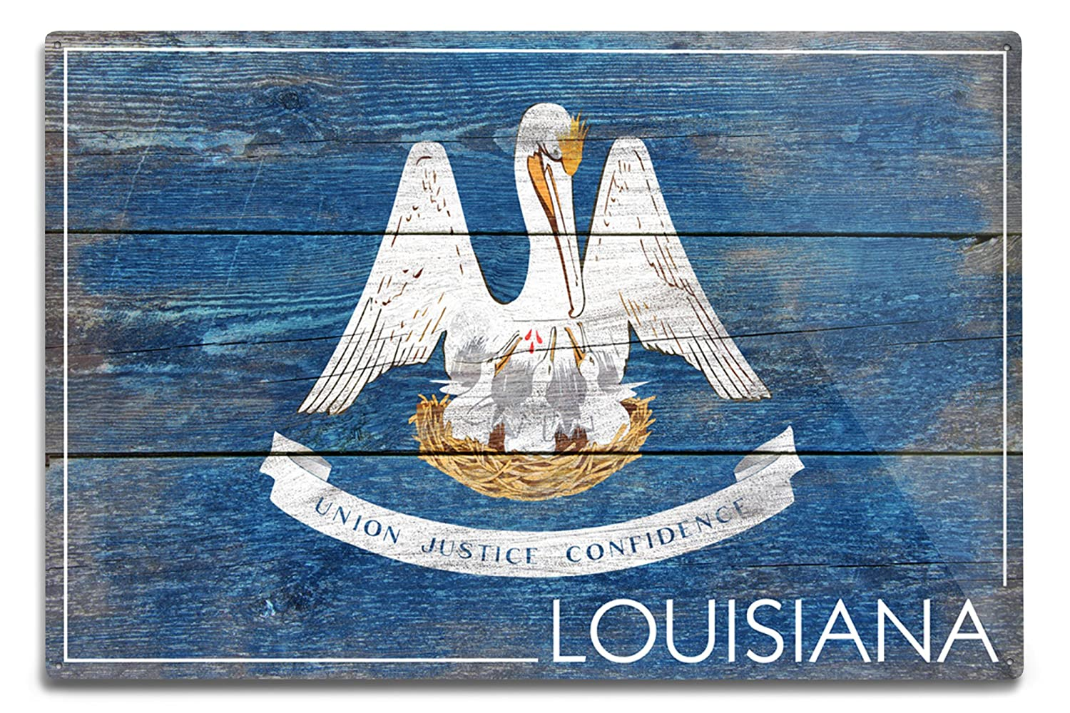 激安先着 素朴なLouisiana State Flag Canvas Tote Bag Metal 12 Sign LANT-52550-TT B06Y19G49H 12 x 18 Metal Sign 12 x 18 Metal Sign, ガーデン資材はエクステルホームズ:b737534c --- pizzaovens4u.com