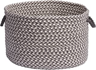 product image for Colonial Mills Outdoor Houndstooth Tweed Utility Basket, 14 by 10-Inch, Gray