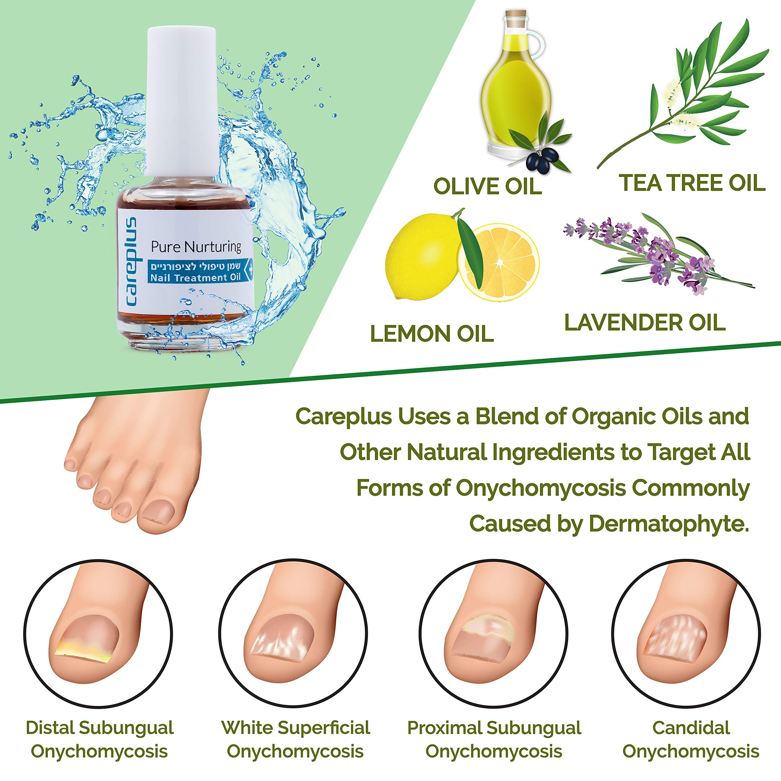 Careplus Fungus Cream Toenail Fungus Treatment - Completely Safe No Risk Made From All Natural Oils - Fungomat by Care Plus by Care Plus