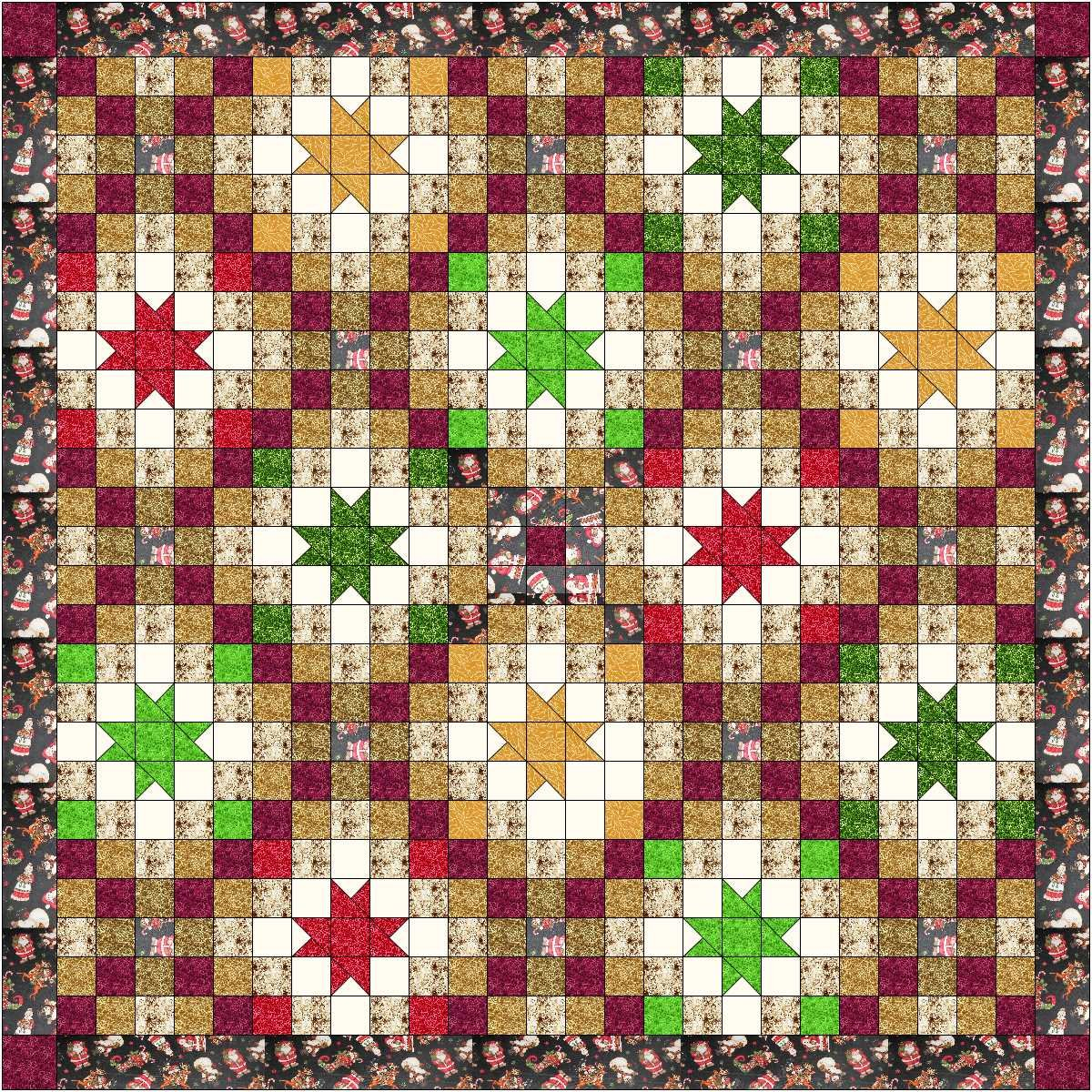 Quilt Kit Night before Christmas/Striking!! by Material Maven