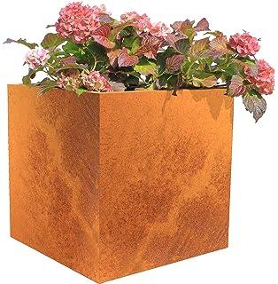 Bellissa Hochbeet Rund Corten 110 X 50 Cm Amazon De Garten