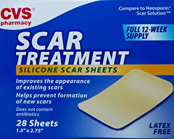 Amazoncom Cvs Scar Treatment Silicone Scar Sheets 12 Week Supply
