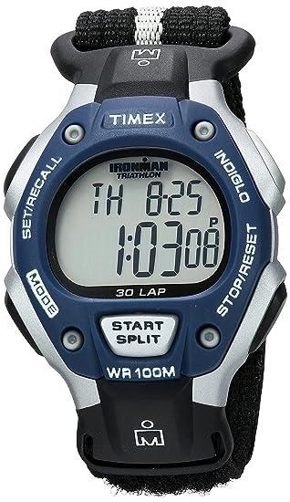 Timex Ironman - Reloj digital de cuarzo para hombre con correa de tela, color negro: Timex: Amazon.es: Relojes