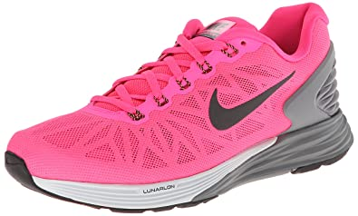 sports shoes 158fa 177ec Nike Womens Lunarglide 6 Running Shoe Hyper Pink Pure Platinum Cool Grey  Black