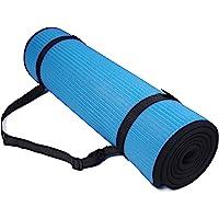 BalanceFrom GoFit All-Purpose 10mm extra grueso de alta densidad antideslizante Ejercicio Pilates Yoga Mat Con Correa de Transporte