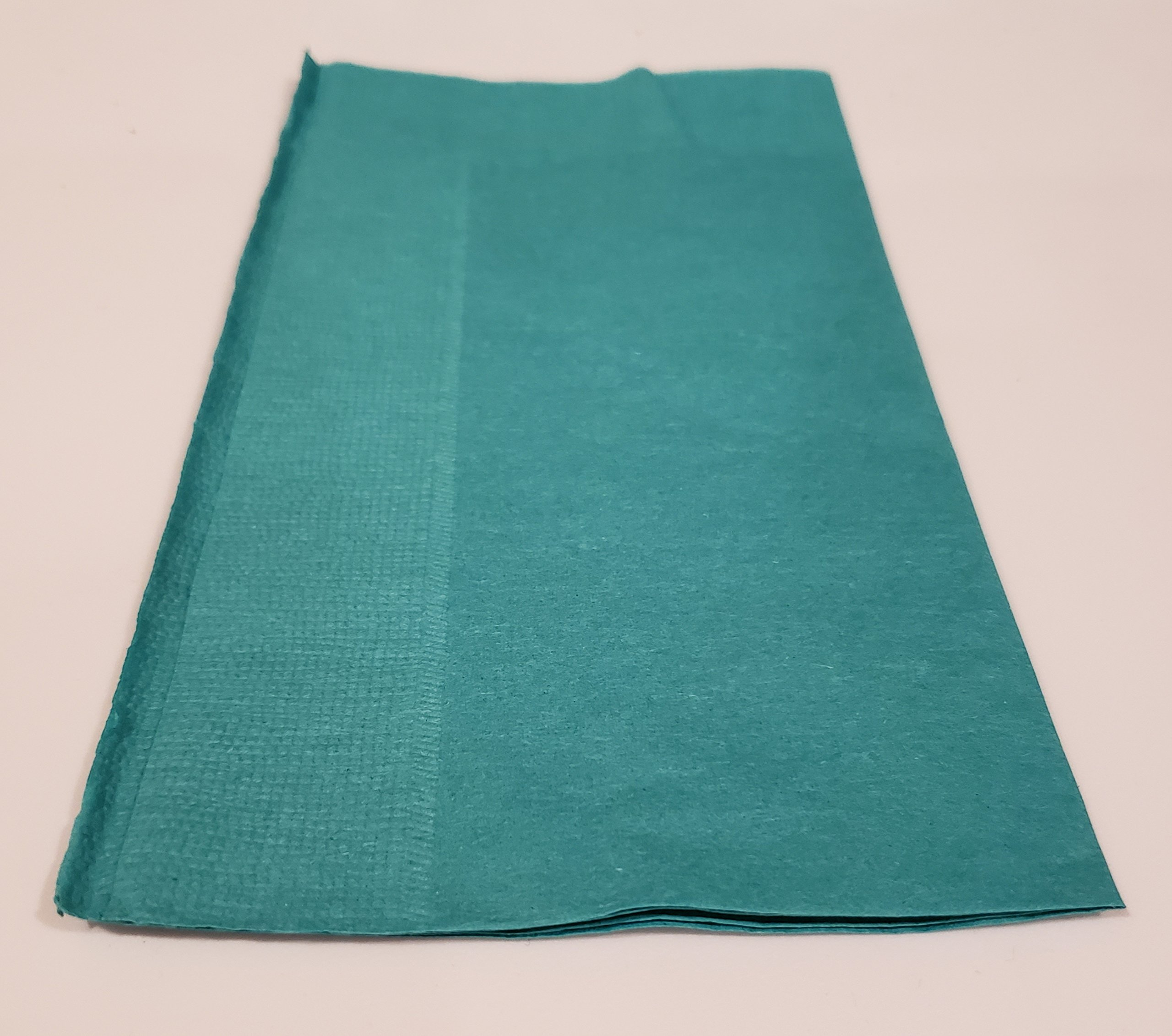 Choice 15'' x 17'' Teal 2-Ply Paper Dinner Napkin - 125/Pack
