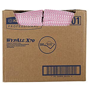 WypAll 06354 X70 Wipers, 12 1/2 x 23 1/2, Red (Box of 300)