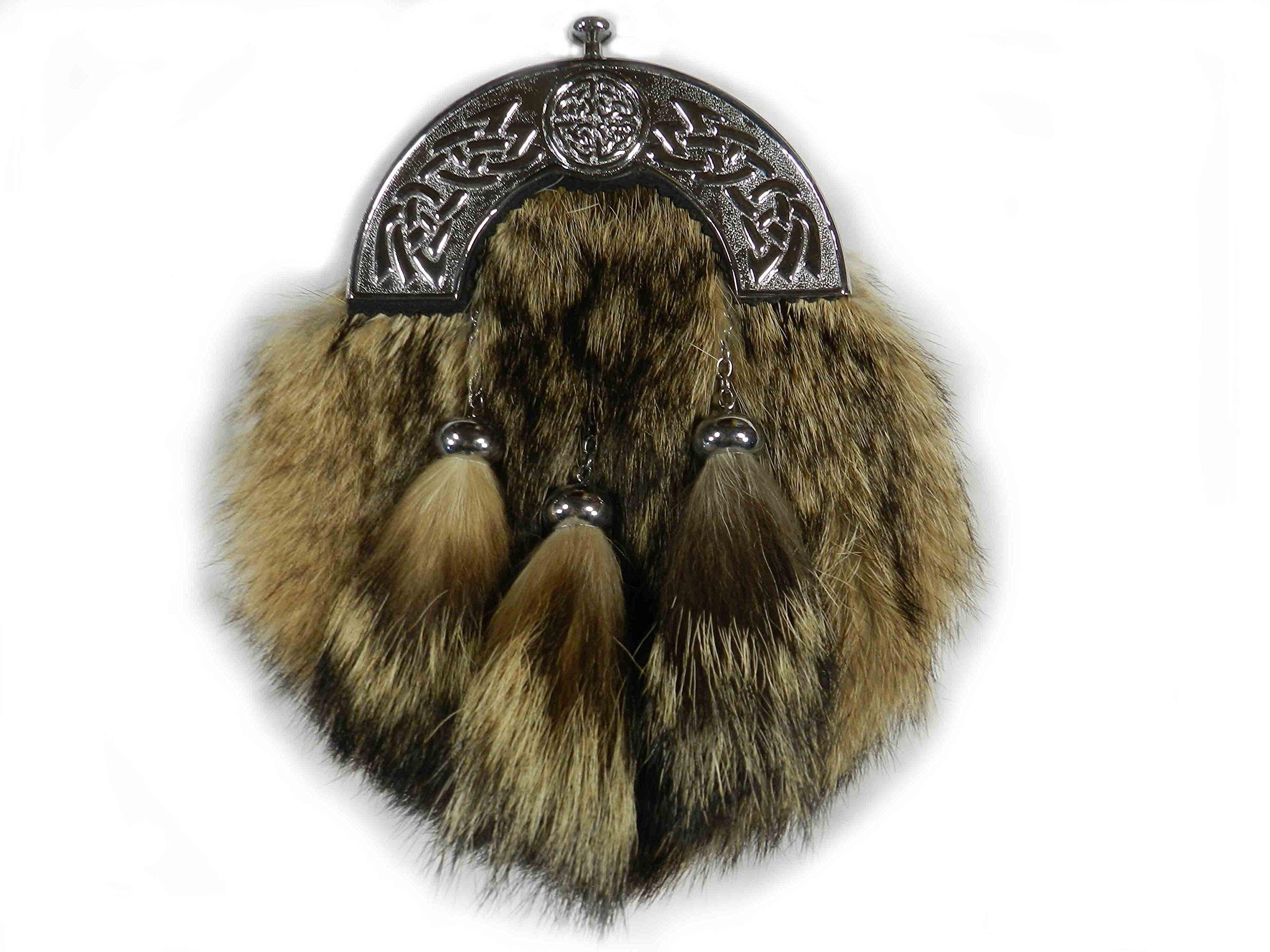 Scottish Kilt Coyote Fur Sporrans - Formal or Semi Formal (Formal)